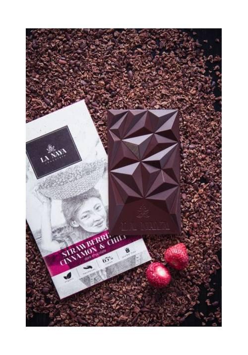 La Naya czekolada ciemna z truskawkami, cynamonem i pieprzem cayenne
