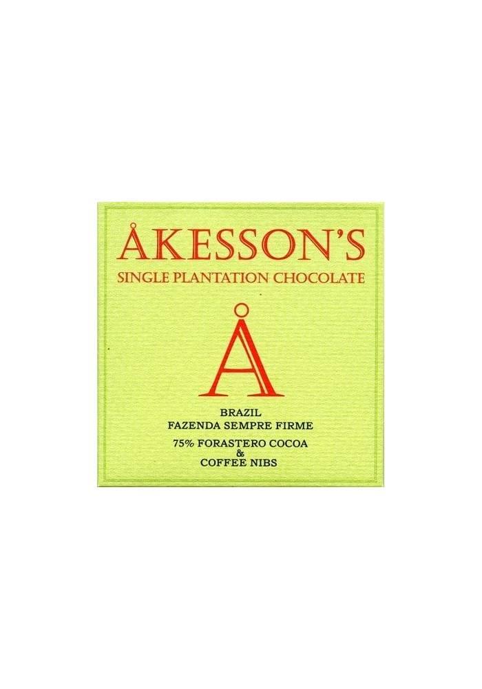 Akesson's Brazil Forastero 75% z ziarnami kawy
