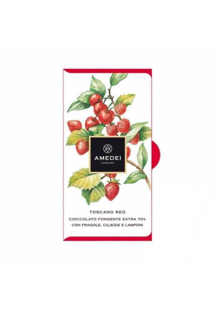 Amedei Toscano Red 70% z czerwonymi owocami