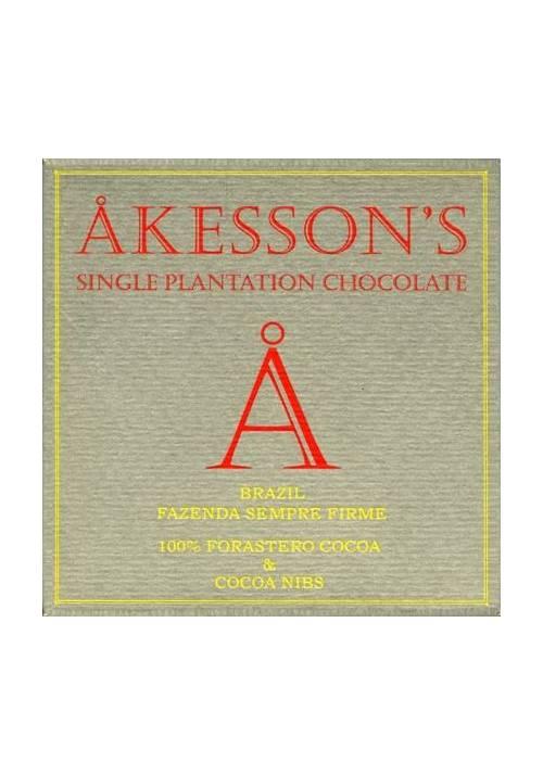 Akesson's Brazil Forastero 100% z nibsami kakao