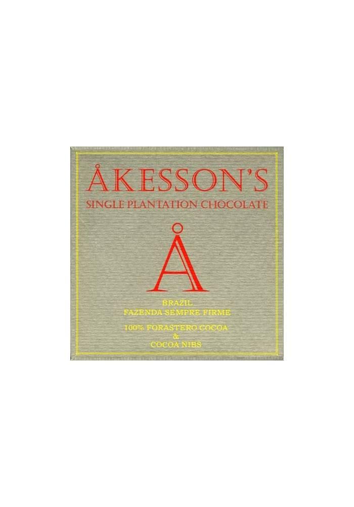 Akesson's Brazil Forastero 100% z nibsami kakaowymi