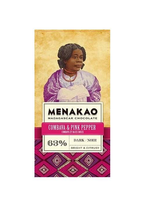 Menakao 63% z limonką kaffir i różowym pieprzem - mini 25g