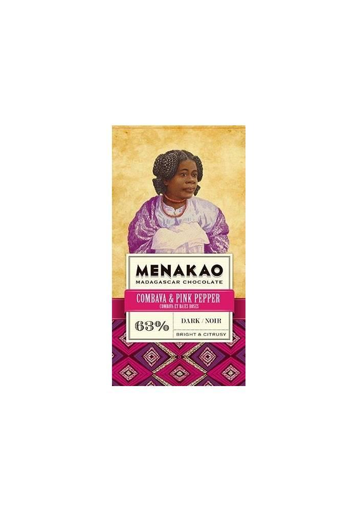Menakao 63% z limonką kaffir i różowym pieprzem