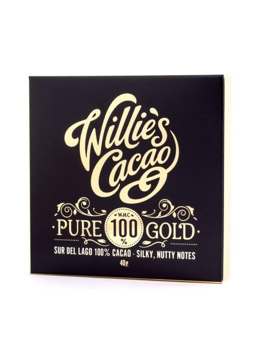 Willie's Cacao Pure Gold 100% Sur Del Lago Venezuela 40g