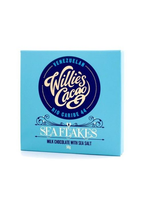 Willie's Cacao Sea Flakes 44% tabliczka z solą morską