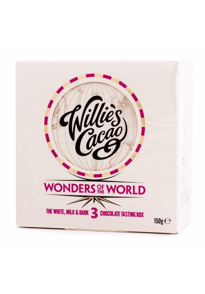 Willie's Cacao Wonders of the World - zestaw degustacyjny (biała, mleczna, ciemna)