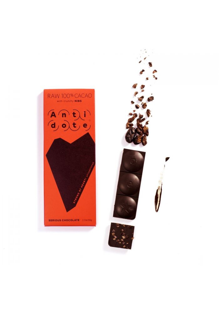 Antidote RAW 100% CACAO with crunchy nibs