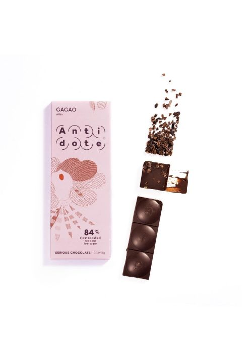 Antidote 84% slow roasted cacao (+ nibs)