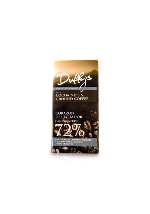 Duffy's Corazon del Ecuador 72% (z nibsami i kawą)