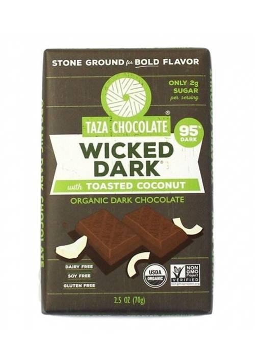 TAZA Chocolate 95% Wicked Dark with Toasted Coconut - czekolada z kokosem