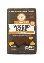 TAZA Chocolate 95% Wicked Dark with Ginger