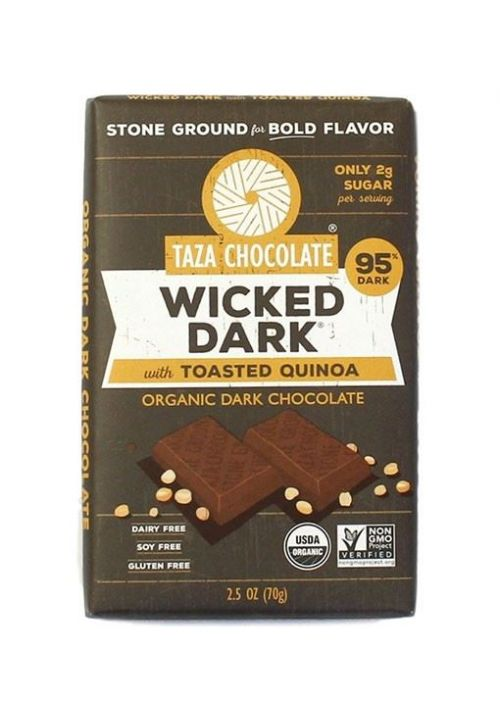 TAZA Chocolate 95% Wicked Dark with Toasted Quinoa