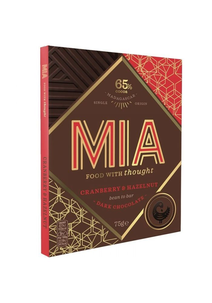 MIA Cranberry & Hazelnut 65% (żurawina/orzech laskowy)