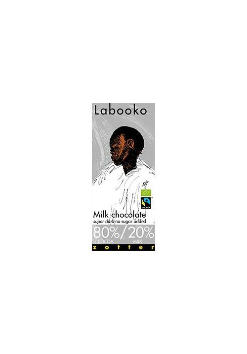 Zotter Labooko Milk (super dark) 80% kakao, 20% mleka
