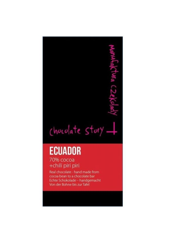 Manufaktura Czekolady Ekwador 70% z papryczką chili piri-piri