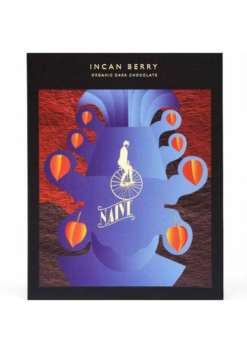 Naive Incan Berry czekolada z miechunką, physalisem, rodzynkiem brazylijskim