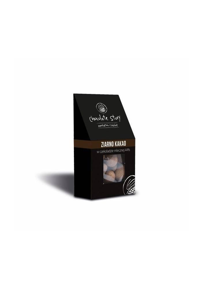 Ziarna kakao w mlecznej czekoladzie - 40g - Chocolate Story
