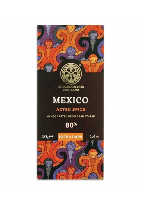 Chocolate Tree Mexico Stoneground 80% Aztec Spice - ciemna czekolada z azteckimi przyprawami, na sposób meksykański