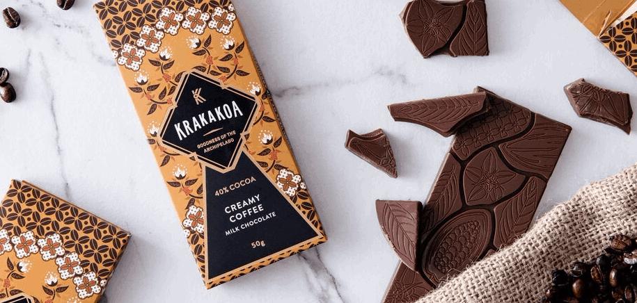 Prosto z Indonezji mleczna czekolada z kawą